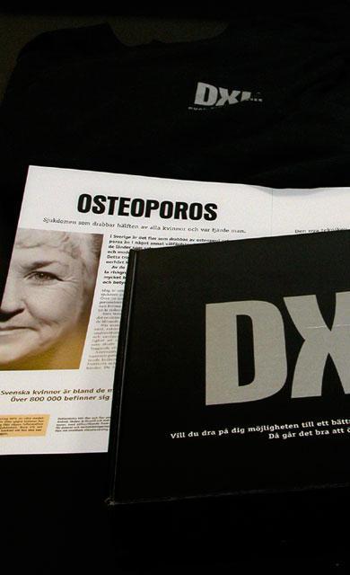Reklamkampanje - DXL Calscan - kampanjlåda med T-shirt, broschyr + brev